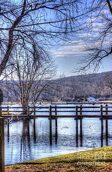 Small Bridge at East Haddam by Marcel  J Goetz  Sr