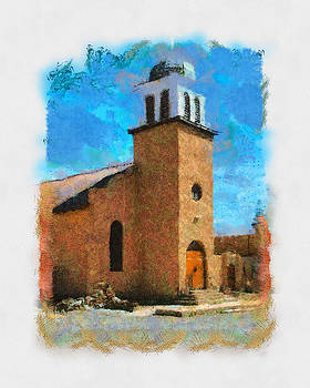 Small Catholic Church in New Mexico by Michael Flood
