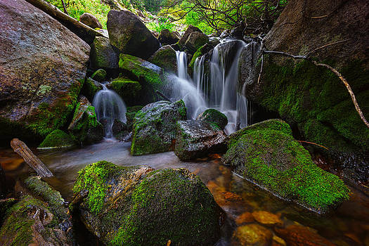 Small Stream Cascade by Kevin Rowe