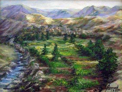 Village in the mountain  by Laila Awad Jamaleldin