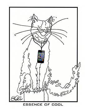 Smart Phone Cat by Elia Peters