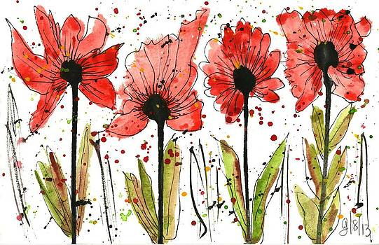 Smashing Poppies by Georgia Piazza