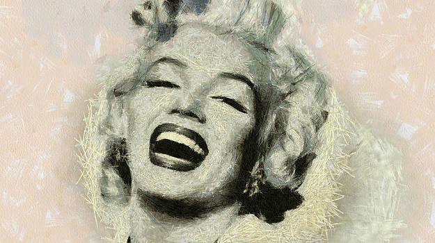 Smile Marilyn Monroe black and white by Georgi Dimitrov
