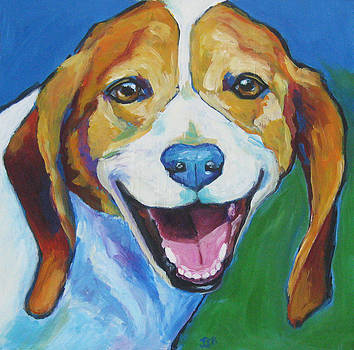Smiling Beagle - Charlie by Janet Burt