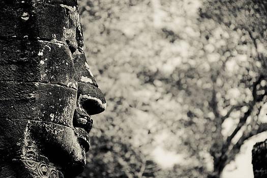 Smiling buddha by Thomas Pfeller