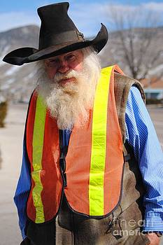 Smiling Crossing Guard by J Bern Hunt