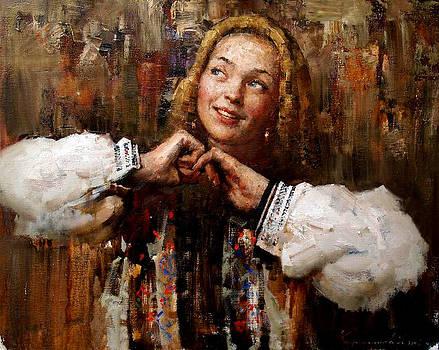 Smiling girl by Kartashov Andrey