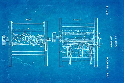 Ian Monk - Smith Corn Sheller Patent Art 1854 Blueprint