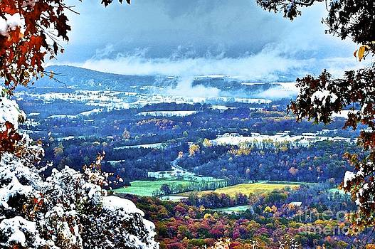 Low Clouds in the Valley by Tracy Rice Frame Of Mind