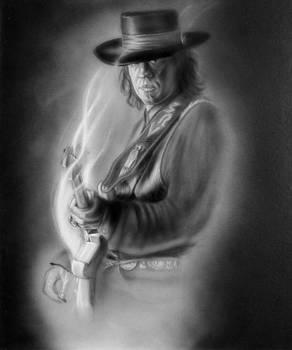 Smokin Stevie Ray Vaughn by Angie Villegas