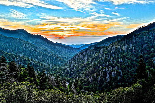 Frozen in Time Fine Art Photography - Smoky Mountain Sunset
