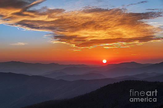 Smoky Mountains Sunset II by Maria Aiello