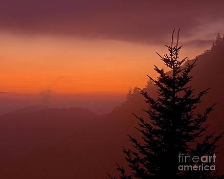 Smoky Sunset by John Remy