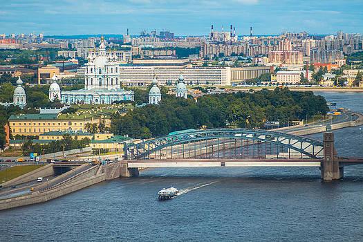Smolny Convent. Bolsheokhtinsky Bridge. by Daniel Fainberg