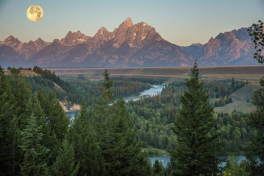 Randall Branham - Snake River Winds toward Tetons