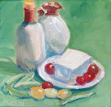 Snap Pea and Feta Salad by Sarah Sheffield