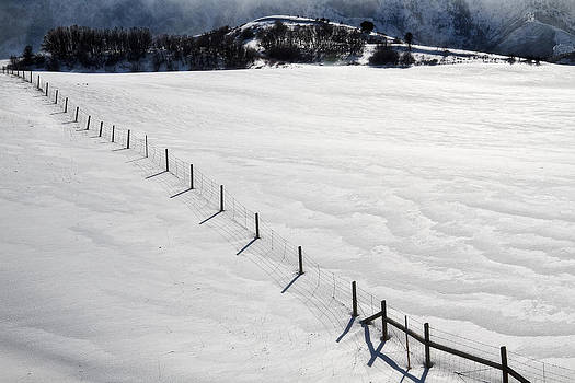 Utah Images - Snow and Fence