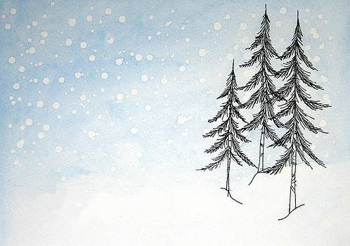 Snow and Pines by Marna Edwards Flavell