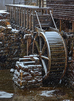 Snow At the Mill by Greg Mills