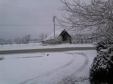 Snow Barn by Jeni Tharp