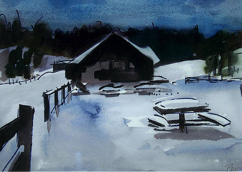 Snow Cabin by Pat Percy