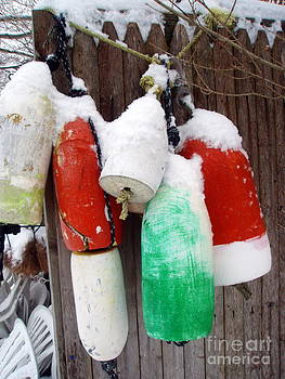 Snow covered Buoys by Kate Stoupas