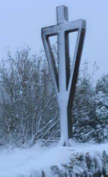 Snow Cross illuminated by Jenny A Jones