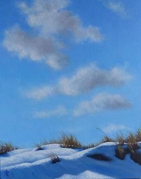 Snow Dunes Salisbury MA by Oksana Zotkina