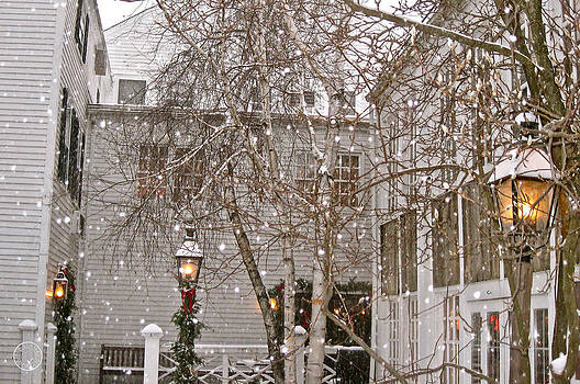 Snow falling on a beloved inn by Healing Woman