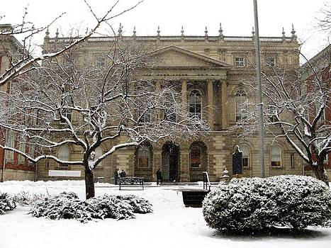 Alfred Ng - snow falling on Osgoode Hall