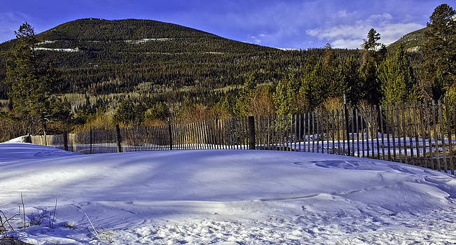 Snow Fence Fall River Road by Tom Wilbert