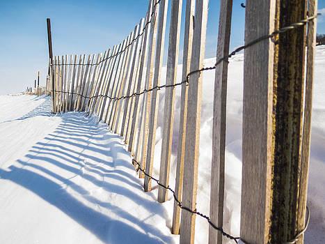 Snow Fence by Kirsten Dykstra