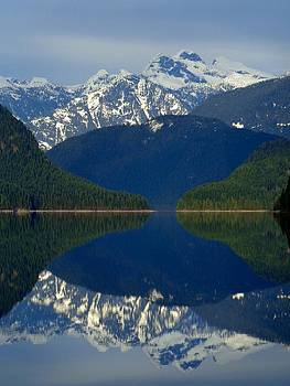 Alouette Lake Mountain Mirror - Golden Ears Prov. Park, British Columbia by Ian Mcadie