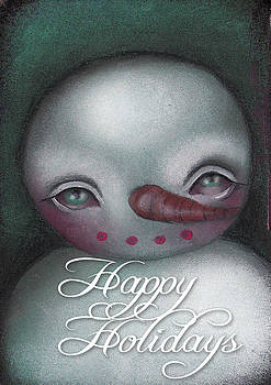 Abril Andrade Griffith - Snow Man Greeting Card