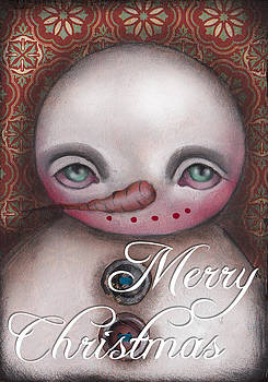 Abril Andrade Griffith - Snow Man Greeting Card II