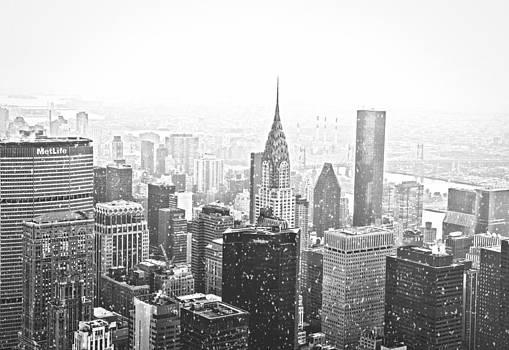 Snow - New York City Skyline by Vivienne Gucwa