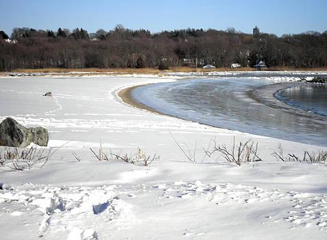 Kate Gallagher - Snow on Beach Ice on Bay