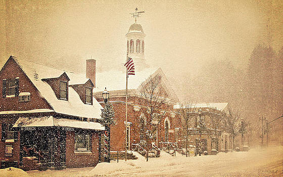 Snow on Main Street Chagrin Falls OH by Dorothy Walker
