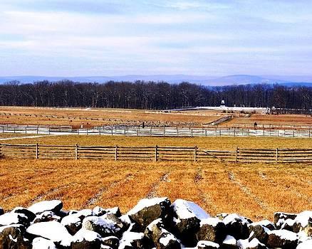 Snow on Pickett's Charge Gettysburg by William Fox