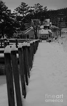 Snow on the docks by Michael Mooney