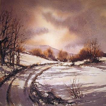 Snow Path 2 by Roland Byrne