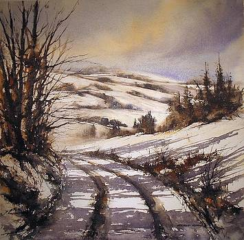Snow Path by Roland Byrne