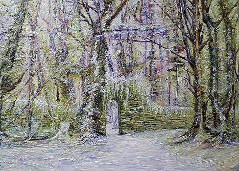 Snow scene archway by Jenny A Jones