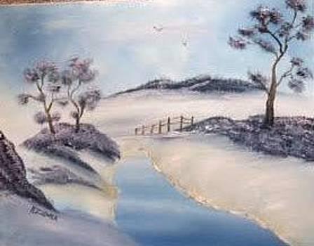 Snow Scene by Roxanne Zusmer