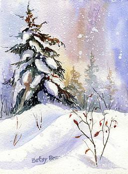 Snow Spruce I by Betsy Bear