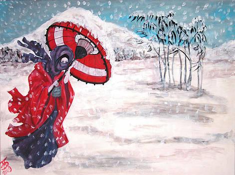 Snow storm by Mariya Bobrovskaya