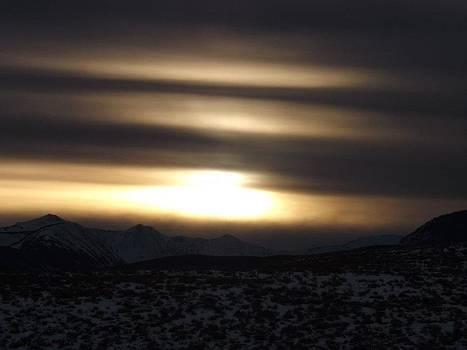 Snow Storm Sunset by Misty Ann Brewer