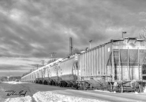 William Reek - Snow Train Black and White