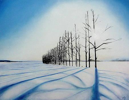 Snow trees II by Martin Davis