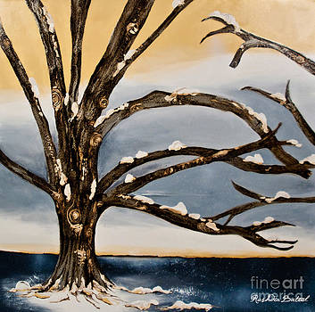 Snow  white tree side 1 by Rushdia Batool